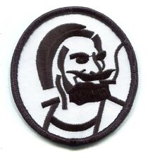ZIG ZAG smoking bearded man EMBROIDERED IRON-ON PATCH hemp 420 weed *FREE SHIP*