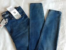 Ladies Dark Blue Skinny Jeans Size 16 Lift Slim & Shape Denim & Co NEW