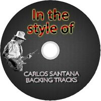 CARLOS SANTANA IN THE STYLE OF GUITAR BACKING TRACKS CD BEST GREATEST HITS MUSIC