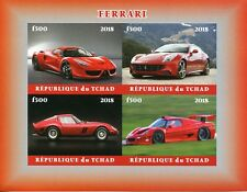 Chad 2018 MNH Ferrari 4v IMPF M/S Transport Cars Stamps