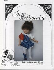 "Sew Adorable Doll Pattern, fits 18"" American Girl, Yokes and Insets for Tights"