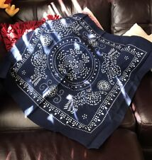 Traditional Chinese Blue Tie Dyed Scaves New