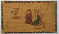 1907 Lafayette Lagro Indiana Postmark Leather Postcard Ralph Coughlin