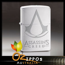 Zippo Assassin's Creed, Brushed Chrome Finish Lighter 29494 - Free Post in AU