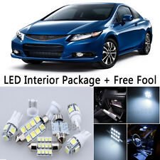 7X Bulb SMD LED Interior Lights Package For 2011-2014 Honda Civic Coupe White NQ