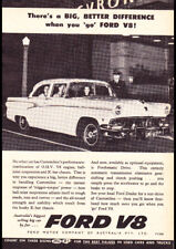 "1956 FORD CUSTOMLINE V8 AD A1 CANVAS PRINT POSTER FRAMED 33.1""x23.4"""