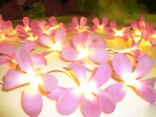 20 Pink Frangipani table runner light wedding party room deocration BATTERY PWR