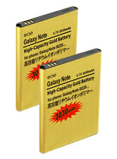 2X 3030mAh High Capacity Gold Batteries for Samsung Galaxy Note1 i717 N7000 T879