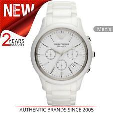 Emporio Armani Ceramic Men's Watch AR1453│Chronograph White Dial│Ceramic Strap