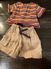 American Girl Doll  khaki  shorts with shirt outfit