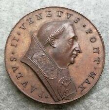 Medaglia Vaticano Paulo II 45mm 45,62gr Caccia Al Cinghiale