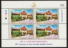 80th Ann. of Suan Sunandha Rajabhat University Thailand 17.5.2017 B4 Mini Sheet