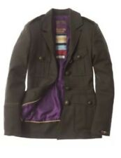 Superdry Surplus Dark Khaki Wool Smart Military Field Jacket  UK M BNWT RRP £325