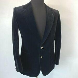 Tiger of Sweden Jacket size 42R Black Velvet Silver Metal Buttons Evening CJ5