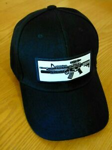 Adjustable OSFM PreCurved Baseball Hat M203 Grenade Launcher AR-15 (Black)