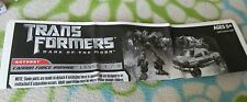 TRANSFORMERS DARK MOON CANNON FORCE IRONHIDE INSTRUCTION BOOKLET ONLY