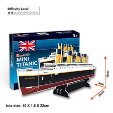 TITANIC SMALL 3D MODEL JIGSAW PUZZLES DIY EDUCATIONAL PUZZLES