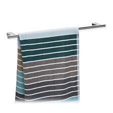 Relaxdays Porte-serviettes mural Salle de bain inox 65 cm Support serviettes ...