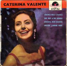 "CATERINA VALENTE ""JEREMIE, VOICI L' HEURE"" 60'S EP POLYDOR 20 969"