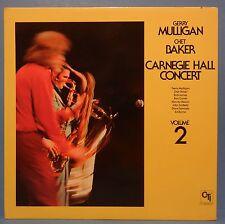 GERRY MULLIGAN CHET BAKER CARNEGIE HALL CONCERT VOL 2 VINYL LP 1975 CTI  VG+!!
