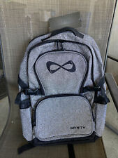 gray and black nfinity cheer sparkle backpack