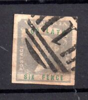 Victoria State 1855 6d Too Late SG33 fine four margin used WS19664