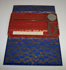 College Antique Pencil Box w/College Pennant Decor Yale Harvard
