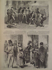 NEW BOYS PITCHING PENNIES A PAWNBROKERS SHOP NEW YORK HARPER'S WEEKLY 1871