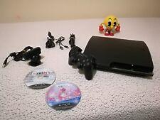 PLAYSTATION 3 PLAY3 SLIM DE 160GB (LEE JUEGOS PS1) + MANDO SONY + 2 JUEGOS + CAM