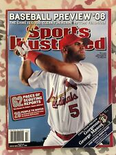 Lot of (2) Sports Illustrated Albert Pujols St. Louis Cardinals Newstand Issues