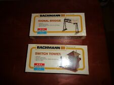 Bachmann 2620 HO Scale Signal Bridge & Switch Tower 2619 Sealed  Lot of 2