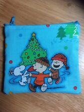 Snoopy Charlie Brown Christmas Handmade Christmas Gift Card Holder coin purse