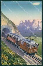 Bolzano Castelrotto Siusi allo Sciliar Treno cartolina QT3155