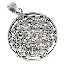 Blume des Lebens Anhänger Silber 925 Meditation Heilige Geometrie b291