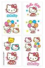1 Sheet Hello Kitty Temporary Tattoos (8 Perforations) Party Favors