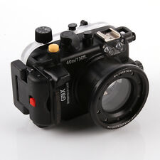 40m 130ft Waterproof Underwater Housing Case Fr Canon PowerShot G9X 24-85mm Lens
