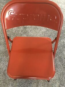 Supreme Metal Folding Chair Red FW20 IN HAND