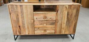 Dakota mango wood chest draws (sideboard) with tv box shelf