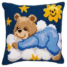 Vervaco Cross Stitch Cushion Kit: PN-0008573 Blue Teddy
