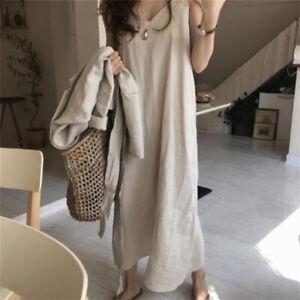 Women Strap Dress Long Sleeveless Retro Underdress Full Slips Vest Chemise