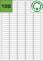 189 White Biodegradable Printer Labels - Eco Friendly Compostable Stickers
