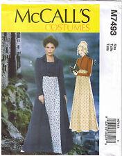 Regency Empire Dress Jacket Coat Jane Austen Costume Sewing Pattern 6 8 10 12 14