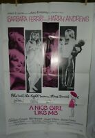 1 Vintage One Sheet Movie Poster for A Nice Girl like Me, 1969, Barbara Ferris