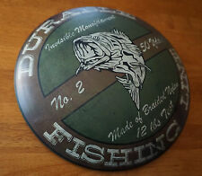 DURABLE FISHING LINE Bass Fisherman Advertising Tackle Lodge Cabin Decor Sign