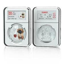 Fiji 2014 $2 Dogs & Cats V My Little Puppy - Pekinese 1 Oz Silver Proof Coin