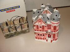 California Creations Christmas Village Hand Painted Tiffany Mansion SE 186