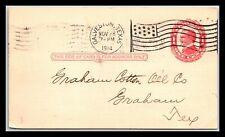 GP GOLDPATH: US POSTAL CARD 1914, GALVESTON, TX. _CV260_P04