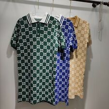 MAGLIA GUCCI T SHIRT ESTATE POLO VERDE ORO BLU M L XL XXL XXXL 2020 SUMMER