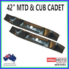 "RIDE ON MOWER BLADES FOR 42"" MTD & CUB CADET  742-0616      H Pattern"