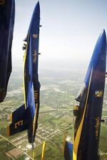 NAVY F-18 BLUE ANGELS VERTICAL FORMATION 8x12 SILVER HALIDE PHOTO PRINT